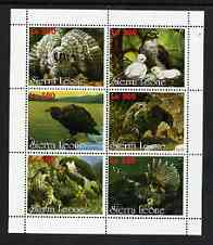 Sierra Leone 1998 Birds of Prey perf sheetlet containing 6 values unmounted mint