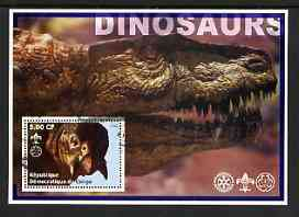 Congo 2002 Dinosaurs #11 (also showing Scout, Guide & Rotary Logos) fine cto used