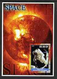 Congo 2002 Space perf s/sheet #01 fine cto used