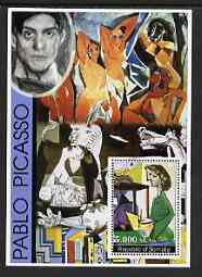 Somalia 2002 Modern Art (Pablo Picasso) perf s/sheet fine cto used, stamps on arts, stamps on picasso