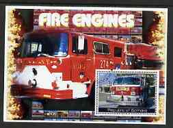 Somalia 2002 Fire Engines #2 perf s/sheet fine cto used