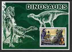 Somalia 2002 Dinosaurs perf s/sheet #1 (also showing Baden Powell and Scout & Guide Logos) fine cto used