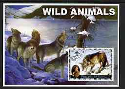 Somalia 2002 Wild Animals #01 (Wolves) perf s/sheet (also showing Baden Powell and Scout & Guide Logos) fine cto used