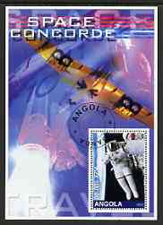 Angola 2002 Concorde & Space perf s/sheet #01 fine cto used