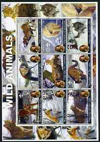 Somalia 2002 Wild Animals perf sheetlet containing set of 9 values (also showing Baden Powell and Scout & Guide Logos) fine cto used