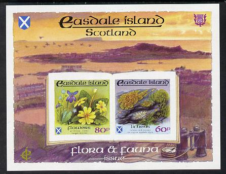 Easdale 1988 Flora & Fauna definitive imperf sheetlet containing 60p (Lichens) & 80p (Spring Flowers) unmounted mint