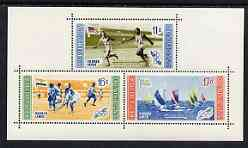 Dominican Republic 1958 Melbourne Olympic Games (4th Issue) Winning Athletes perf m/sheet (airmail) unmounted mint, SG MS 757