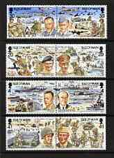 Isle of Man 1994 50th Anniversary of D-Day perf set of 8 (4 se-tenant pairs) unmounted mint, SG 606-13