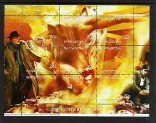 Kyrgyzstan 1999 20th Century Dreams #03 composite perf sheetlet containing 9 values unmounted mint (Fellini, Anita Ekberg, Marcello Mastroianni, Anthonny Quinn & Giulietta Masina)