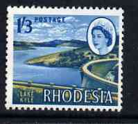 Rhodesia 1966 Dam & Lake Kyle 1s3d (photogravure printing) unmounted mint, SG 381