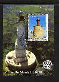Benin 2003 Lighthouses of Europe perf m/sheet #01 with Rotary Logo fine cto used