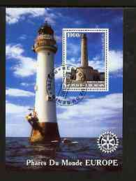 Benin 2003 Lighthouses of Europe perf m/sheet #02 with Rotary Logo fine cto used