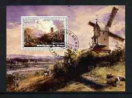 Benin 2003 Paintings of Windmills #01 perf m/sheet fine cto used