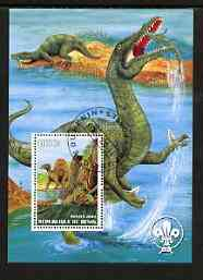 Benin 2003 Dinosaurs perf m/sheet #01 with Scout Logo fine cto used