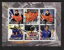 Mauritania 2003 The Columbia Shuttle Disaster perf sheetlet #02 containing 6 values fine cto used