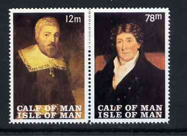 Calf of Man 1969 Paintings from Manx Museum #4 perf set of 2 unmounted mint (Rosen CA139-40)