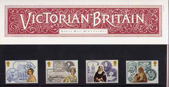 Great Britain 1987 Queen Victoria's Accession 150th Anniversary set of 4 in official presentation pack, SG 1367-70