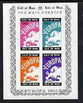 Calf of Man 1965 Europa imperf m/sheet containing 4 values in issued colours (Rosen CA28MS) unmounted mint