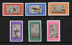 Calf of Man 1966 Birds perf def set of 6 (changed colours) unmounted mint (Rosen CA30-35)
