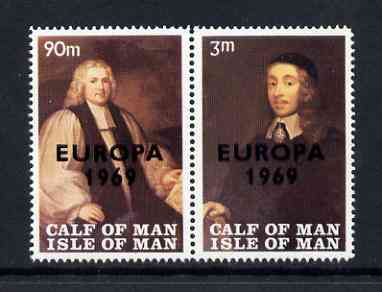 Calf of Man 1969 Europa overprinted on Paintings from Manx Museum #3 perf set of 2 unmounted mint (Rosen CA149-50)