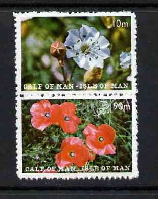 Calf of Man 1969 Flowers of the Isle of Man second issue perf set of 2 unmounted mint (Rosen CA157-58)