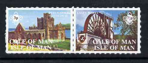 Calf of Man 1971 Isle of Man Views - Scouts rouletted set of 2 unmounted mint (Rosen CA208-209)