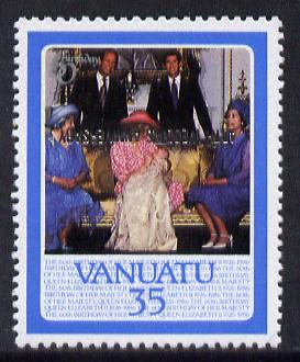 Vanuatu 1987 Ruby Wedding (SG 488v) 35v unmounted mint with opt inverted, unlisted by SG