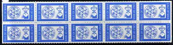 Calf of Man 1972 Definitives (Manx Symbol, Puffin & Scout Logo) rouletted set of 10 unmounted mint (Rosen CA238-47)