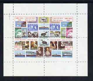 Calf of Man 1973 Last Day of mail Service rouletted m/sheet containing set of 4 values unmounted mint (Rosen CA322MS)