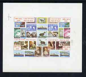 Calf of Man 1973 Last Day of mail Service imperf m/sheet containing set of 4 values unmounted mint (Rosen CA322MSa)