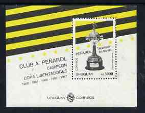 Uruguay 1992 Penarol Football World Club Champions m/sheet unmounted mint, Mi BL56
