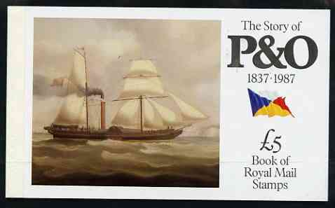 Booklet - Great Britain 1987 The Story of P&O \A35 Prestige booklet complete and very fine, SG DX08