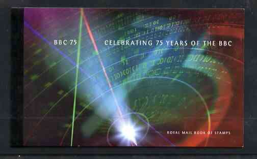 Booklet - Great Britain 1997 75th Anniversary of the BBC \A36.15 Prestige booklet complete and very fine, SG DX19