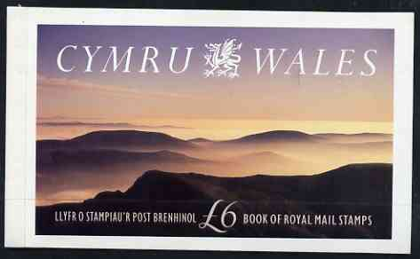 Booklet - Great Britain 1992 Cymru-Wales \A36 Prestige booklet complete and very fine, SG DX13