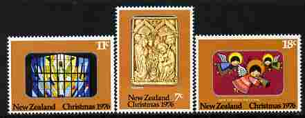 New Zealand 1976 Christmas perf set of 3 unmounted mint, SG 1129-31