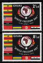Ghana 1959 Africa Freedom Day perf set of 2 unmounted mint SG 211-2