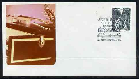 Postmark - Sweden 1982 illustrated cover with special cancel for Goteborg Music Festival