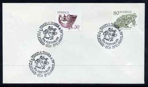 Postmark - Sweden 1981 cover with special cancel for Folk Dancing & Music Festival, Orkell Junga
