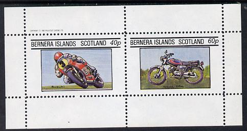 Bernera 1982 Motor Cycles (Suzuki & Honda) perf set of 2 values (40p & 60p) unmounted mint