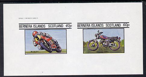Bernera 1982 Motor Cycles (Suzuki & Honda) imperf set of 2 values (40p & 60p) unmounted mint
