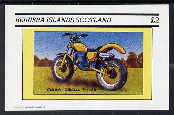 Bernera 1982 Motor Cycles (Ossa 250cc Trials) imperf deluxe sheet (�2 value) unmounted mint