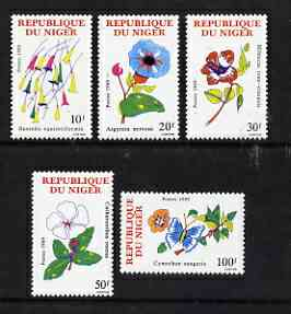 Niger Republic 1989 set of 5 flowers unmounted mint, SG1183-87