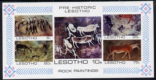 Lesotho 1983 Rock Paintings m/sheet imperf unmounted mint (SG MS 544)