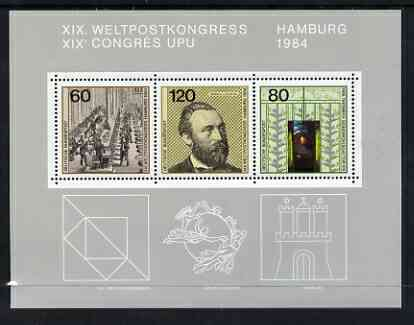 Germany - West 1984 19th UPU Congress, Hamburg m/s SG MS2065 unmounted mint
