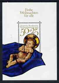 Germany - West 1978 Christmas m/s unmounted mint SG MS1880