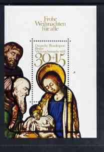Germany - West Berlin 1978 Christmas m/s unmounted mint SG MS B565