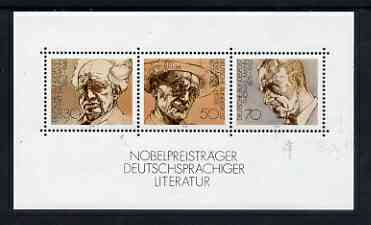 Germany - West 1978 German winners of Nobel Prize for Literature m/s unmounted mint SG MS1853