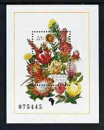 Hungary 1990 African Flowers m/s unmounted mint SG MS3972