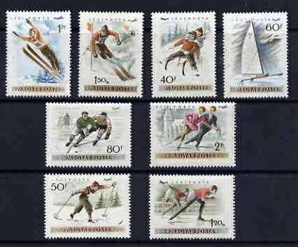 Hungary 1955 Winter Sports Air set of 8 unmounted mint, SG1398-1405