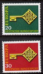 Germany - West 1968 Europa set of 2 unmounted mint SG 1460-61